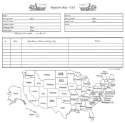 "Our Roots - 8"" x 8"" - Migration Map & Chart (SKU: SYFT-OR-8X8-Migration)"