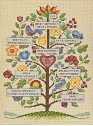 Vintage Family Tree Counted Cross Stitch Kit (SKU: FYR-NO-DIM-570-73817)