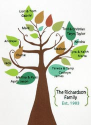 Stylized Family Tree Crewel Embroidery Kit