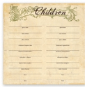 For The Record Collection - Children's Chart (SKU: FYR-TPL-FTR107)