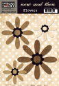 Now & Then Collection - Brown Flowers (SKU: FYR-TPL-NT215)