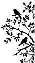 Crafty Individuals - Birds on Branch Silhouette (SKU: FYRMAG-CI-C95243-L2)