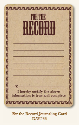 Life Stories - Journaling Card - For The Record