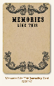 Life Stories - Journaling Card - Memories Like This (SKU: FYRMME-MME-DAY237)