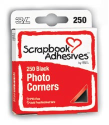 Scrapbook Adhesives - Photo Corners - Black (SKU: FYRNO-3LSA-1669)
