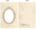 "7 Gypsies - Vintage Chipboard 2-Piece Oval Frame Cover 5""X7"" (SKU: FYRNO-7G-10107)"