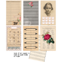 "7 Gypsies - Trousseau Journal Pages 3""X5"" 12/Pkg (SKU: FYRNO-7G-17971)"