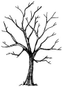 Art Impressions Wilderness Series - Tree - Cling Rubber Stamp