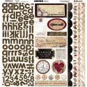 "Timepiece - Combo Stickers 12""X12"" Sheet (SKU: FYRNO-BB-TC882)"