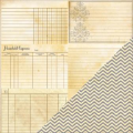 Bazzill Heritage 2 - Note Cards - Horizontal / Chevron