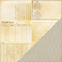 Bazzill Heritage 2 - Note Cards - Horizontal / Chevron (SKU: FYRNO-BBP-H-30-4393)