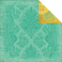 Yesterday - Teal Damask