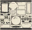 Narratives Antique Cream Collection - 12 X 12 Sticker Sheet (SKU: FYRNO-CI-15862)