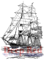 Deep Red - Cling Stamps - Clipper Ship