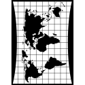 Darice Embossing Plus Folder - World Map