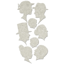 Fabscraps - Die-Cut Grey Chipboard  - Silhouettes (SKU: FYRNO-FAB-DC49013)