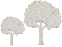 Fabscraps - Die-Cut Grey Chipboard Word - Fluffy Trees (SKU: FYRNO-FAB-DC56008)