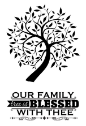 Hot Off The Press - Acrylic Stamps - Small Family Tree