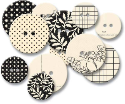 Chipboard Buttons - Black Line (SKU: FYRNO-JB-379)