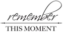 Miniature Clear Stamps - Remember This Moment