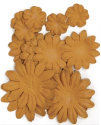 Paper Flowers - 2cm, 3.5cm, 5cm Assorted - Sepia