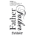 Father - Rub on Word (SKU: FYRNO-KA-RB129)