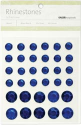 Rhinestones - Self Adhesive - Round Mix-Dark Blue