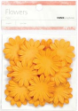 Paper Flowers - 3.5cm - Orange