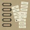 Eco-Modern Metal Art Label Holders & Labels by The K&Company (SKU: FYRNO-KC-137820)