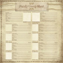 Ancestry 2 – My Family Group Sheet (SKU: FYRNO-KF-64819)
