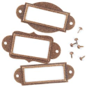 Metal Label Holders with Brads - Antique Copper (Glittered) (SKU: FYRNO-MM-32115)