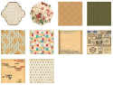 Making Memories - Vintage Findings - Paper Pack 8 x 8 (SKU: FYRNO-MM-33446)