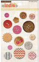 Indie Chic - Saffron Button Card (SKU: FYRNO-MME-IC0231)