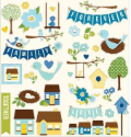 Family Ties - Cardstock Stickers - Accents & Phrases (SKU: FYRNO-PEBB-732149)