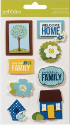 Family Ties - Dimensional Stickers (SKU: FYRNO-PEBB-732150)