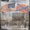 Paper House - Civil War Paper - Collage with Flags (SKU: FYRNO-PH-12CWP-428E)
