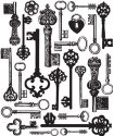 Prima Marketing -  Printery - Antique Keys Background - Clear Stamp (SKU: FYRNO-PRI-550936)