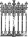 Prima Marketing -  Printery - Fence Background -Clear Stamp