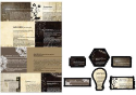 Prima Marketing - Engraver - Newsprint Decorative Frames
