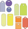 "Cuttlebug 2"" x 2"" Die Set - Tiny Tags (SKU: FYRNO-PROVO-37-1222)"