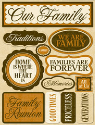 Reminisce - Our Family - Signature 3D  Stickers (SKU: FYRNO-REM-RSD-159)