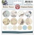 Mother Nature - Chipboard Buttons With Teal Color Twine (SKU: FYRNO-Ruby-MN17)