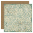 Ancestral Collection - Teal Brocade 12 x 12 Double-Sided Varnish Paper (SKU: FYRNO-TPC-ANVP196)