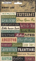 TPC Studio - Memory Lane - Words - Embossed Stickers (SKU: FYRNO-TPC-MLDP-654)