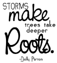 Unity Stamp - Itty Bitty Rubber Stamp - Storms Make Deeper Roots