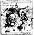 Unity Stamp - Tattered Roses - Itty Bitty Unmounted Rubber Stamp (SKU: FYRNO-UNITY-IB-IO258)
