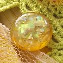 Buttons - Sparklers - Yellow Glitter (SKU: FYRNO-WP-W-GS05)