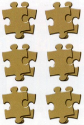 Scrapworks - Canvas Collection - Natural - Puzzle Pieces (SKU: FYROPSWCB100)