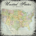 "Scrapbook Customs - United States Map - 12"" x 12"" (SKU: FYRSCI-35004)"