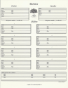 "Our Roots - 8.5"" X 11"" - Family Group Chart 1 (SKU: SYFT-OR-8X11-FG1)"
